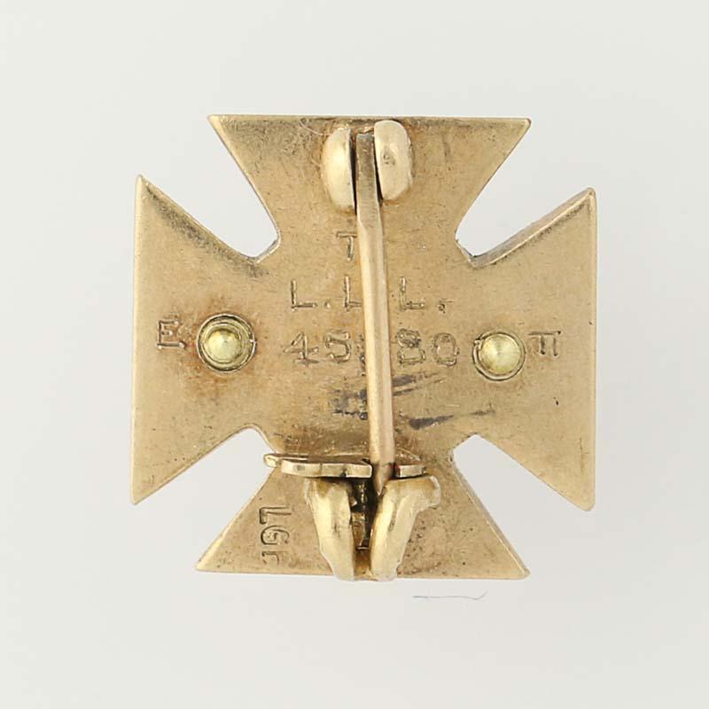 Alpha Tau Omega Badge 10k Yellow Gold Fraternity Vintage Pin Greek