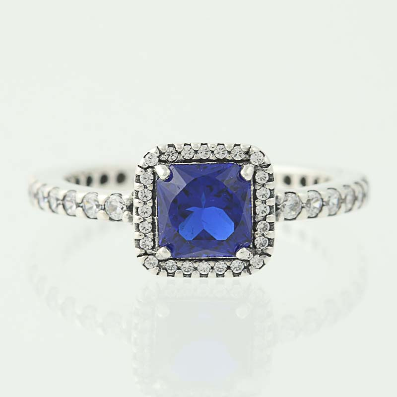e3a84a36b New Pandora Ring Timeless Elegance True Blue 190947NBT Sterling ...
