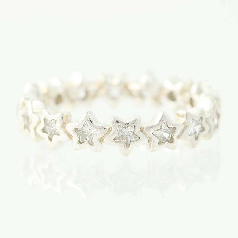 970a5b9f4 New Authentic Pandora Starshine Ring - Sterling Silver Clear 52 (US ...