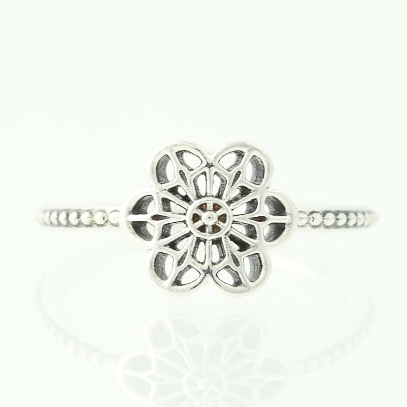 18c452eb2 NEW Authentic Pandora Floral Daisy Lace Ring - Sterling Silver 50 ...