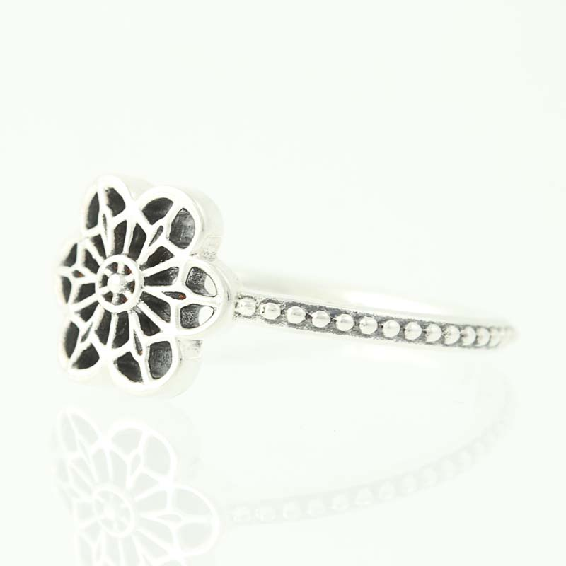 251fac4aa NEW Authentic Pandora Floral Daisy Lace Ring - Sterling Silver 50 (US 5)  190992