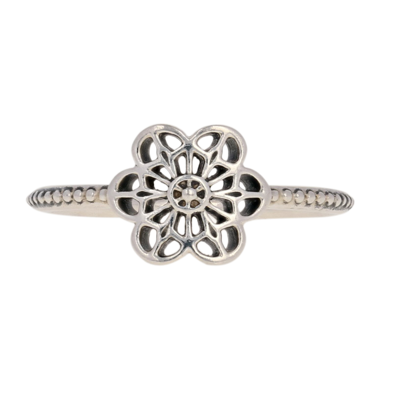 550571e6a NEW Authentic Pandora Floral Daisy Lace Ring - Sterling Silver 60 ...