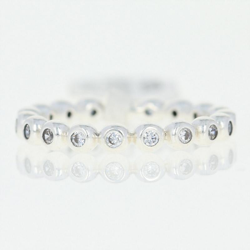 anello eternity con zirconia cubica pandora