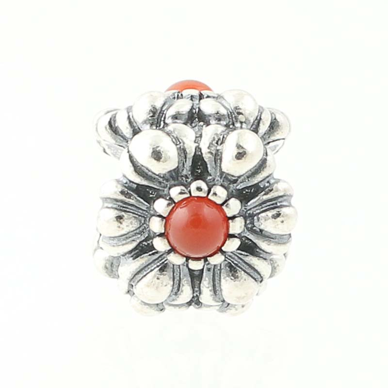 New Pandora Birthday Blooms July Birthstone Charm Sterling