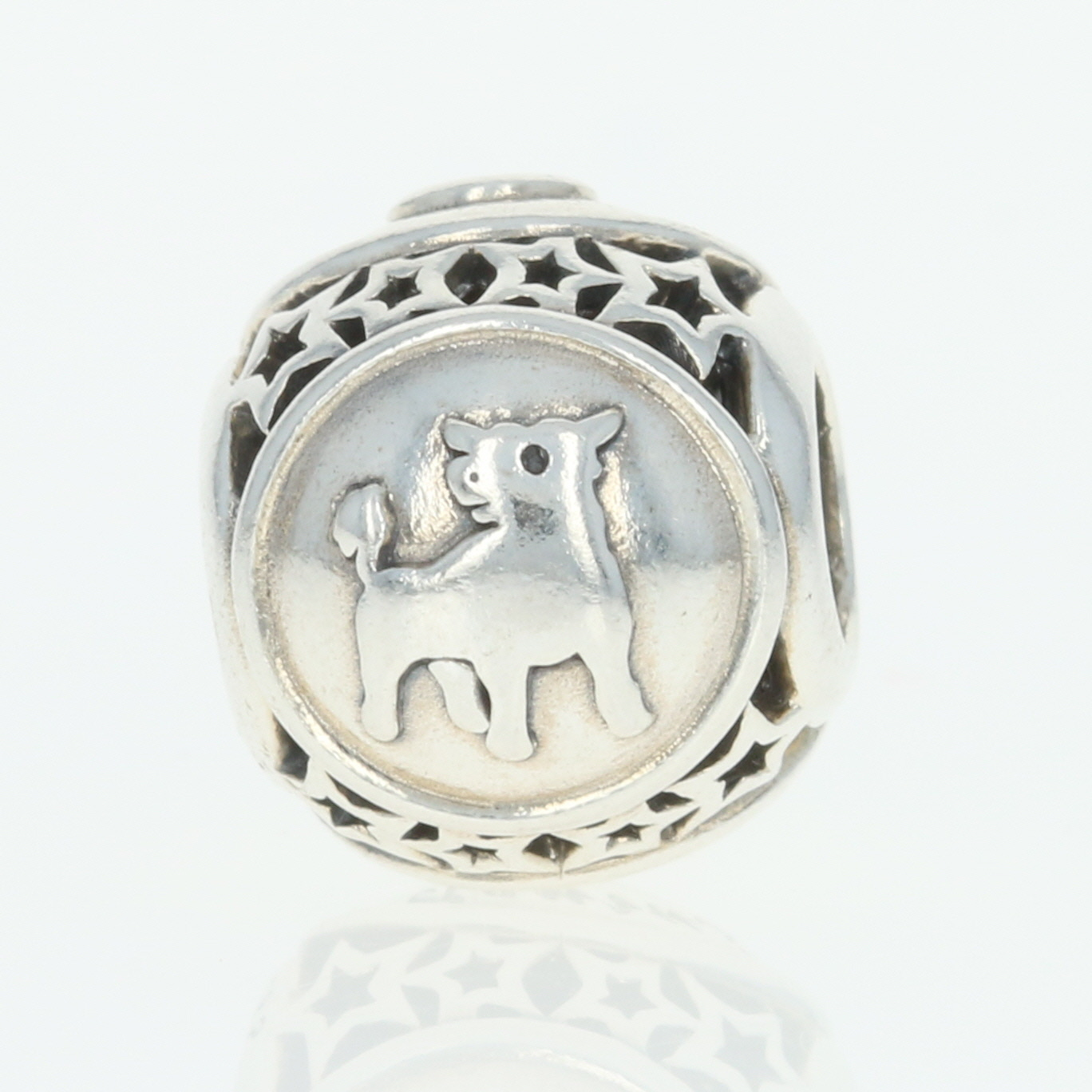 e0edc5c07 NEW Authentic Pandora Taurus Star Sign Charm Sterling Silver Zodiac ...