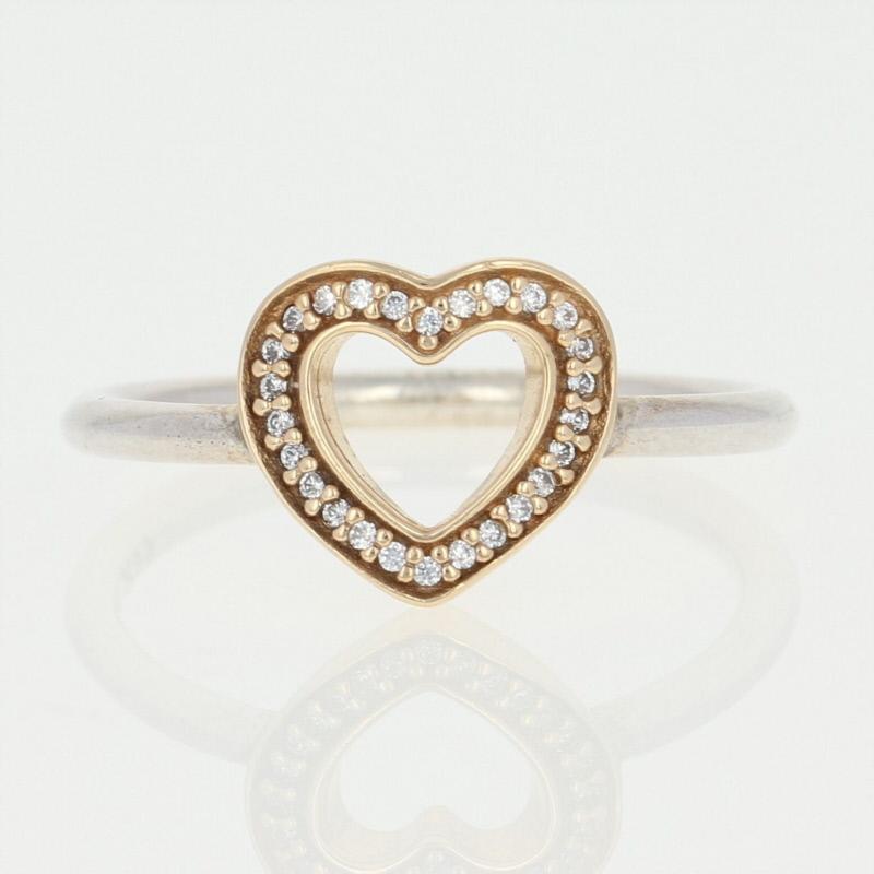 l'atteggiamento migliore 406d3 65f69 Dettagli su Nuova Autentico Pandora Simbolo di Amore Anello Ster & 14k Oro  52 (6) Cuore