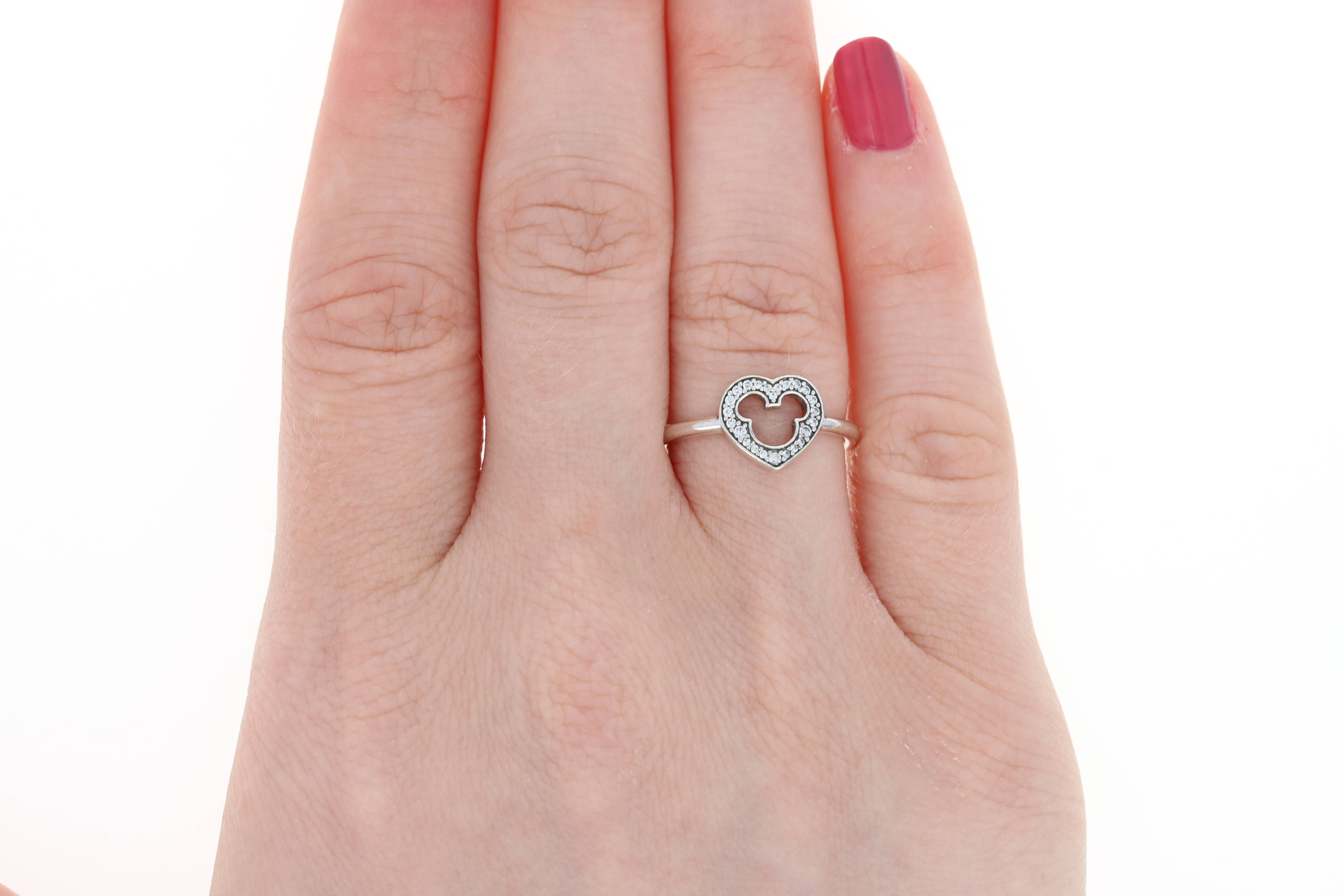 NEW Pandora Mickey Silhouette Ring - Sterling Silver Clear CZ Disney ...