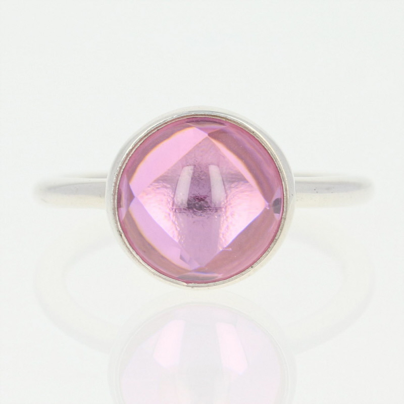 910c4d274 NEW Pandora Poetic Droplet Ring - Sterling Silver Pink CZ 190982PCZ ...