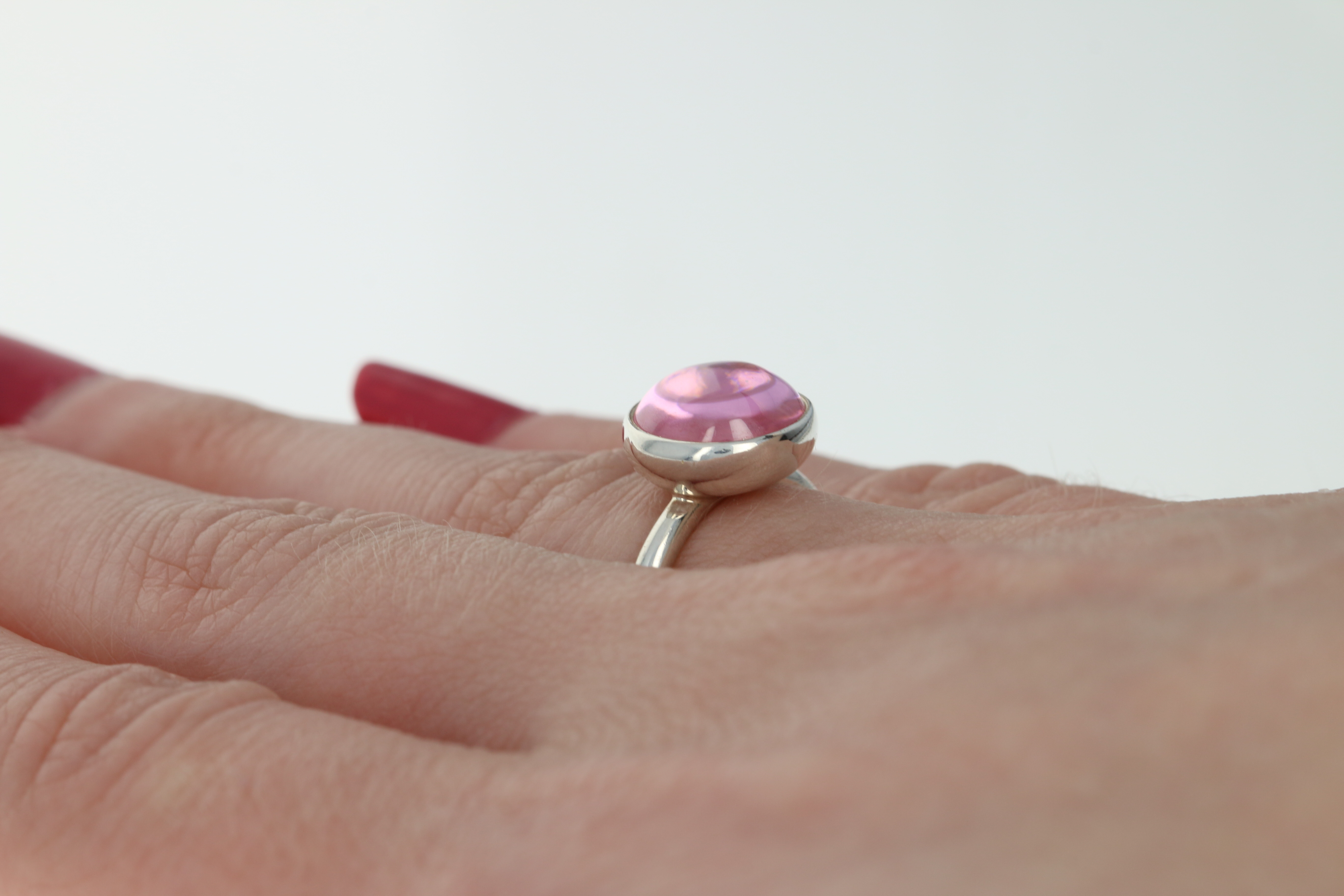 83c2a6daabf77 Details about NEW Pandora Poetic Droplet Ring - Sterling Silver Pink CZ  190982PCZ-52 Retired