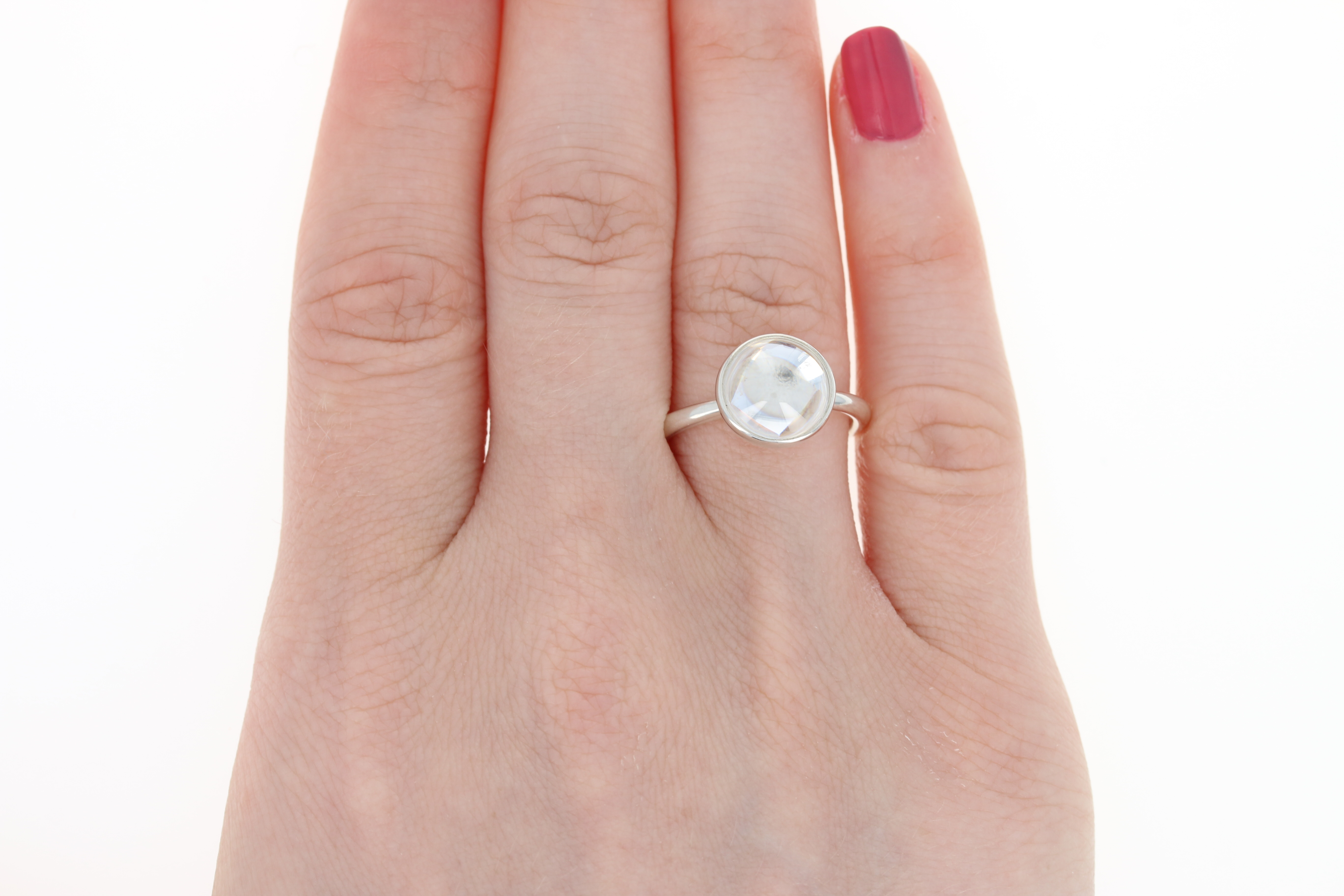 NEW Pandora Poetic Droplet Ring - Sterling Silver Clear CZ 190983CZ ...