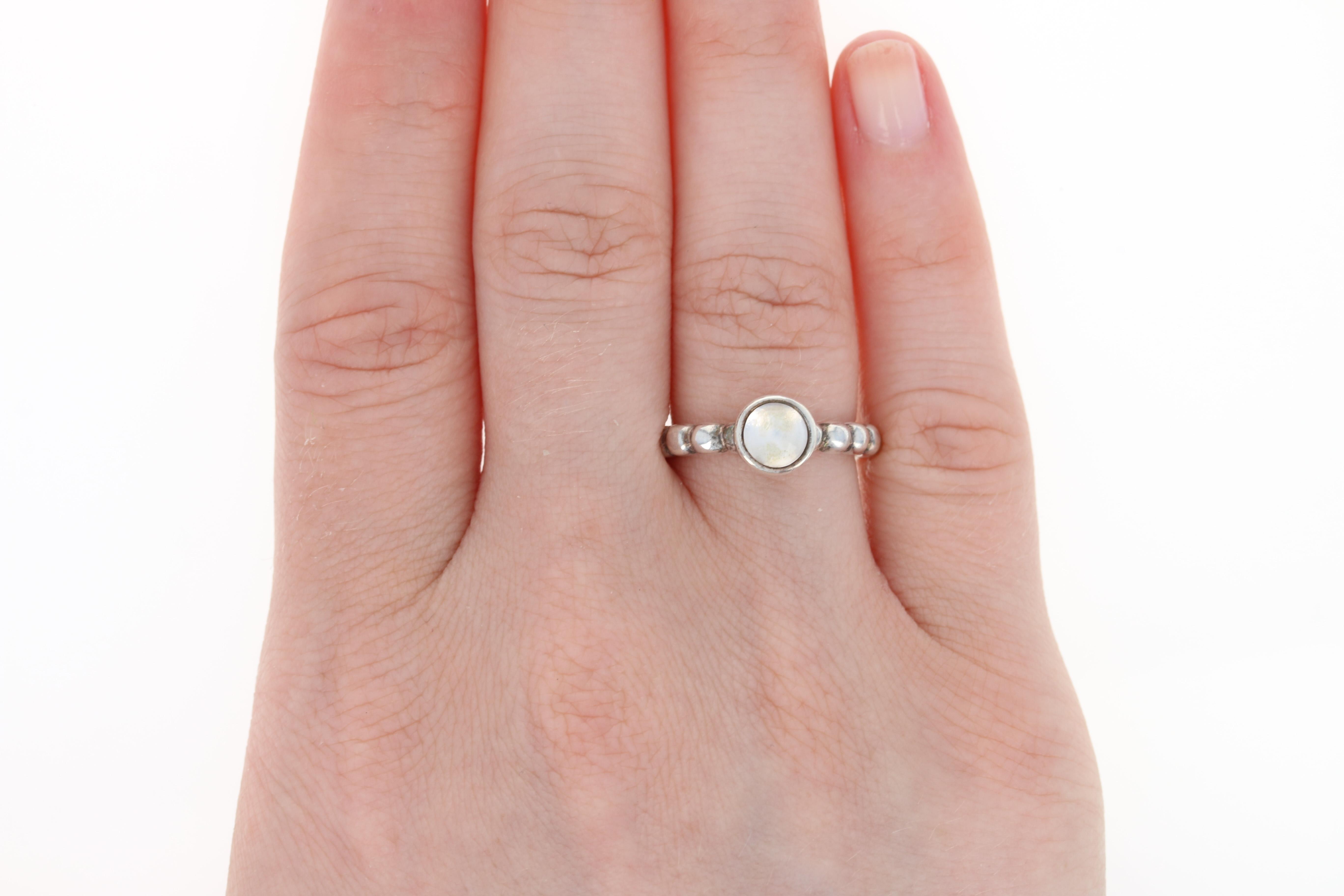New Authentic Pandora Ring 190244RQ Rose Quartz Bubble Sterling ...