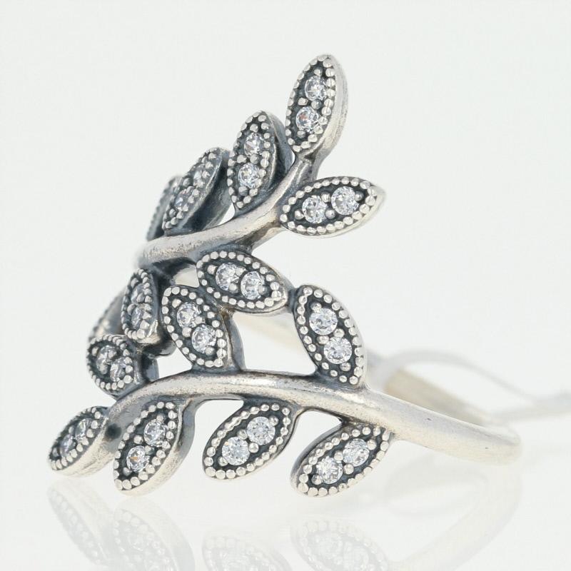 anello pandora foglie scintillanti