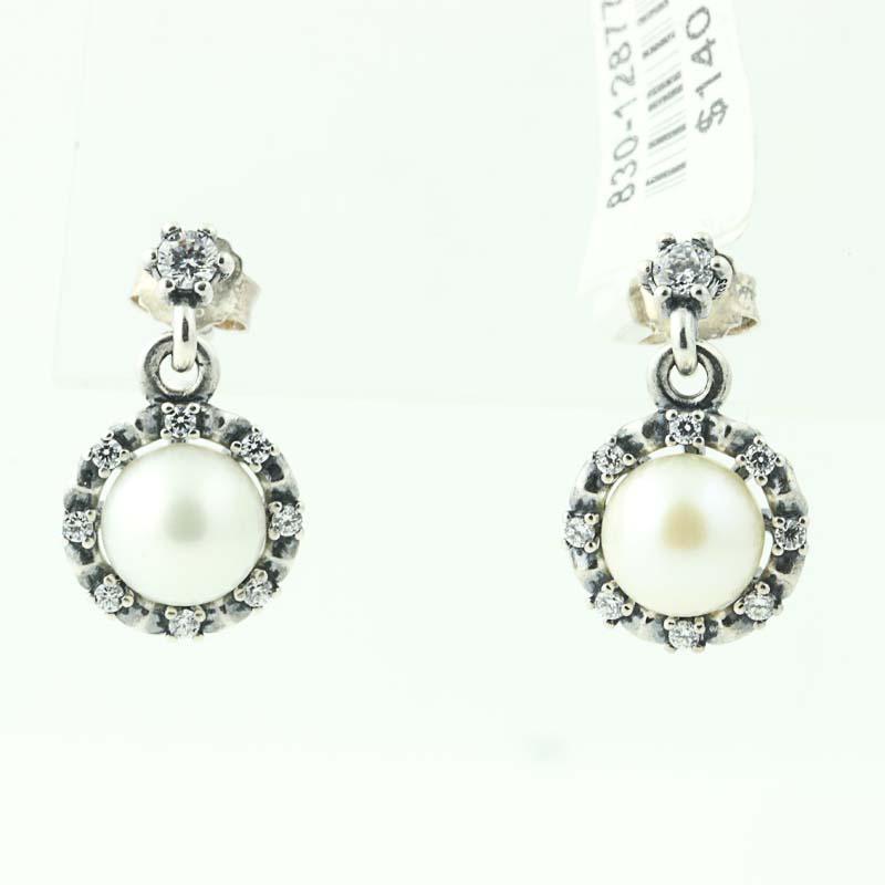 4b92f4e16 New Authentic Pandora Everlasting Grace Drop Earrings 290562P ...