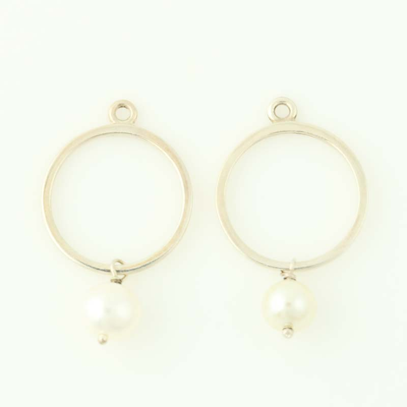 85ad7ad28 New Authentic Pandora Earrings Charms Moon Drops 290613P Pearls ...