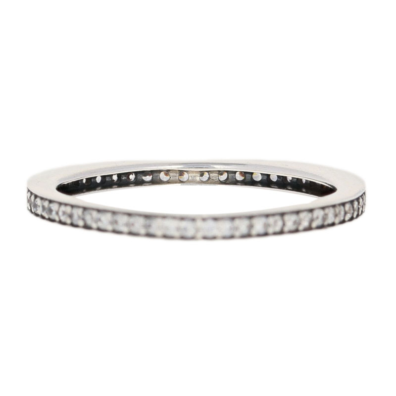 251df7ffd7a50 Details about NEW Authentic Pandora Sparkling Arcs of Love Ring Sterling  Heart 54 (7) 197095CZ