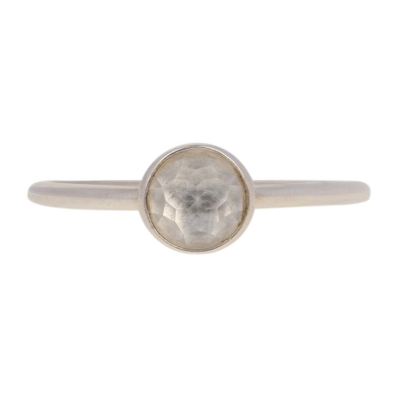 1e9bddb71 NEW Authentic Pandora April Droplet Ring -Sterling Rock Crystal 56 ...