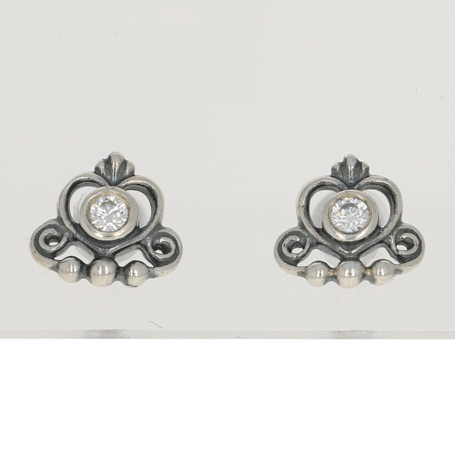 98d4000e82bf4 Details about NEW Authentic Pandora My Princess Tiara Stud Earrings -  Sterling Clear 290540CZ