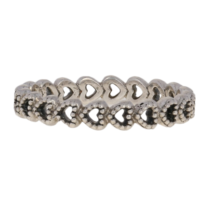 a3dfeb0e414a2 Details about NEW Authentic Pandora Linked Love Ring Sterling Silver Hearts  52 (US 6) 190980