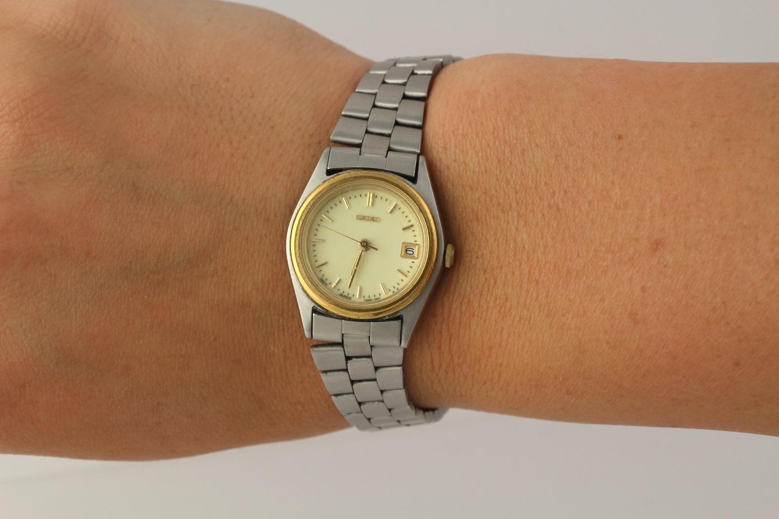 femmes seiko montre bracelet quartz pile analogique acier inoxydable ebay. Black Bedroom Furniture Sets. Home Design Ideas