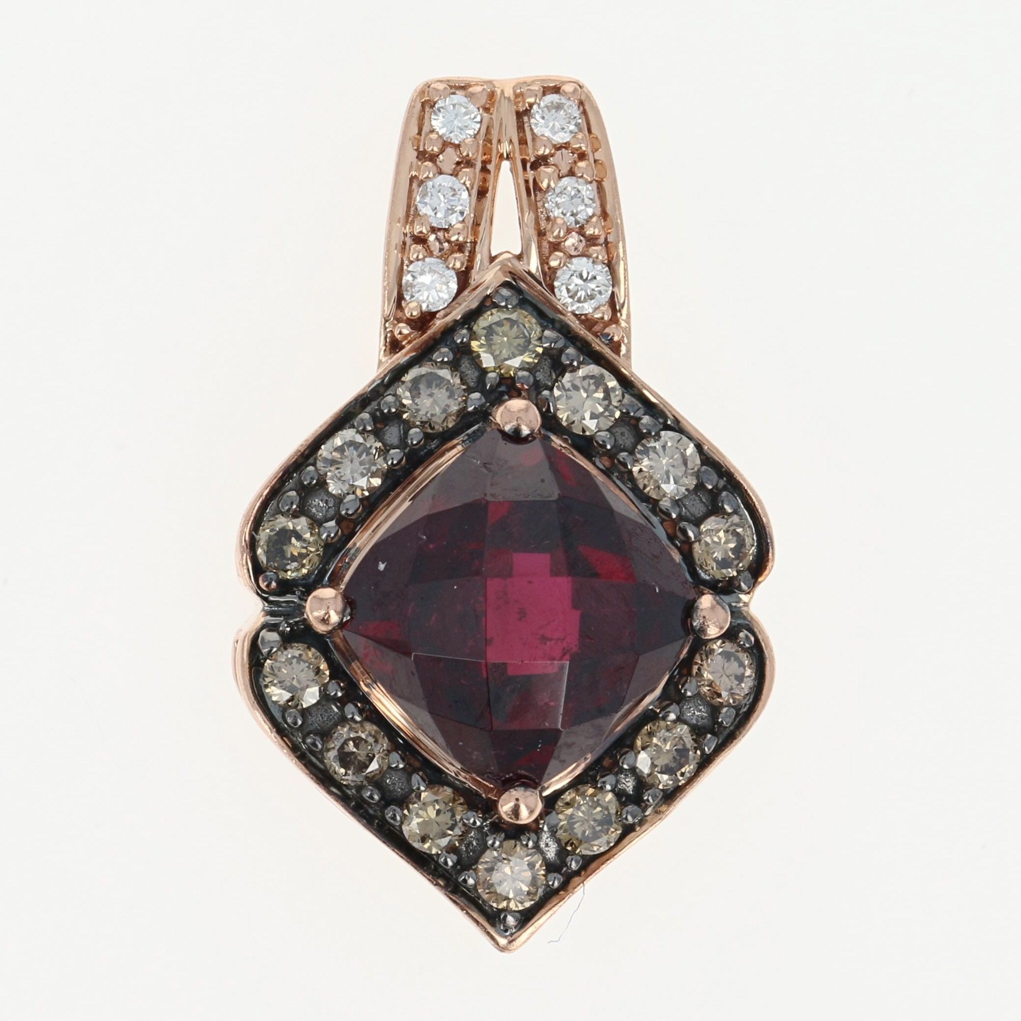 rhodolite pendant item garnet earrings bezel mcclelland stud mcteigue
