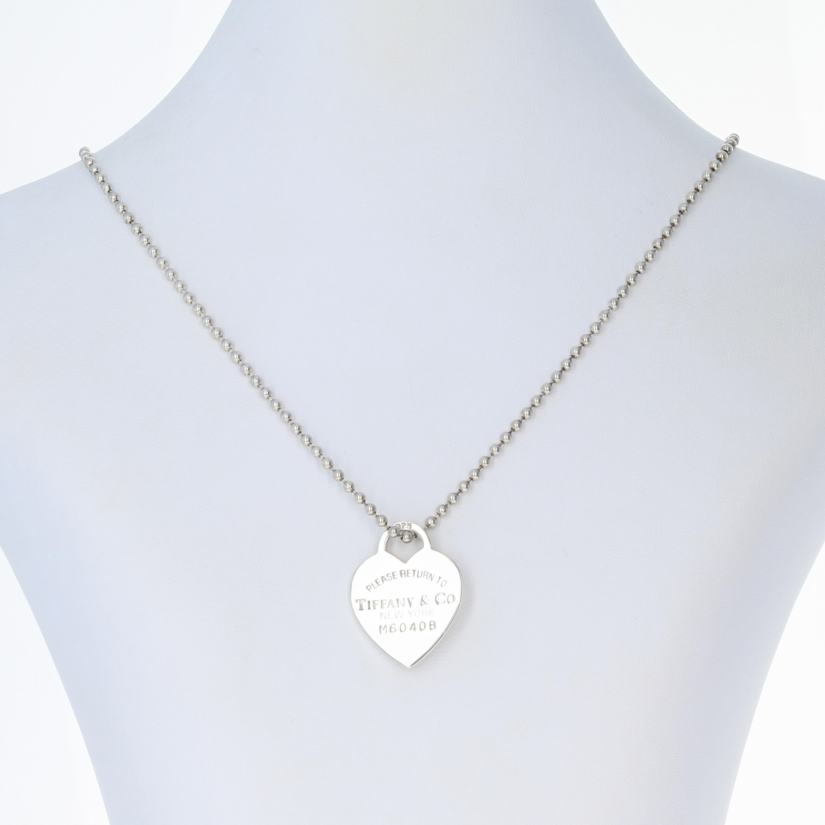Tiffany co heart tag pendant necklace 34 14 sterling silver click thumbnails to enlarge aloadofball Gallery