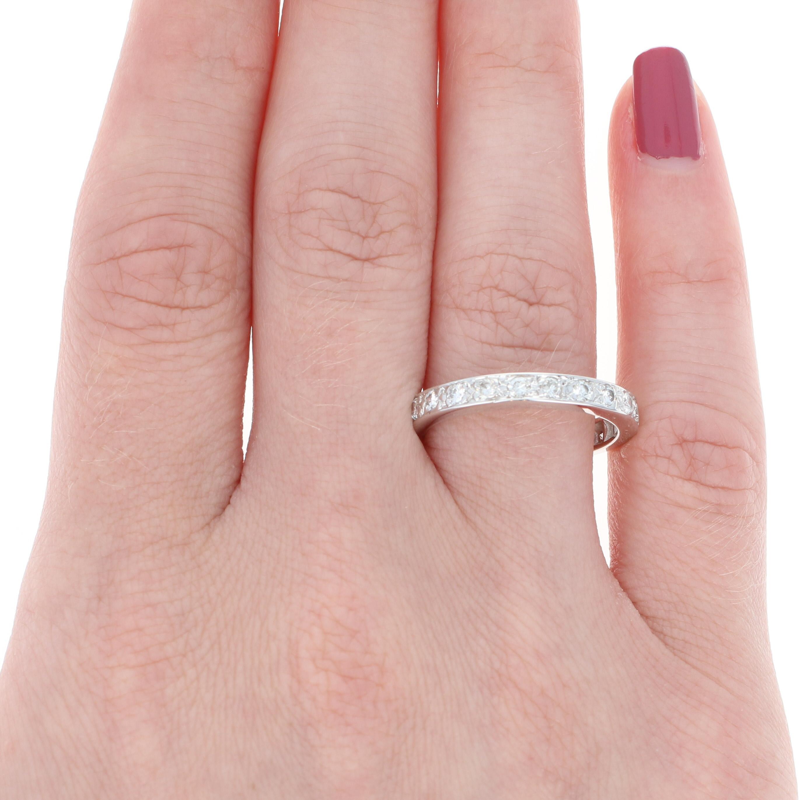 Diamond Eternity Wedding Band - 14k White Gold Women\'s Ring Round ...