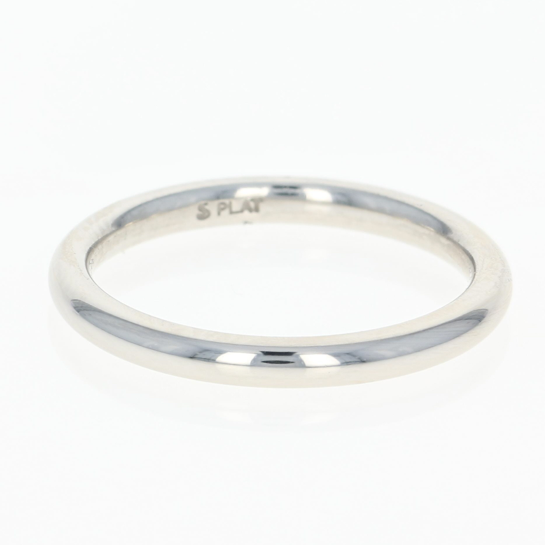 Wedding Band Platinum Rounded Women s Ring Size 5