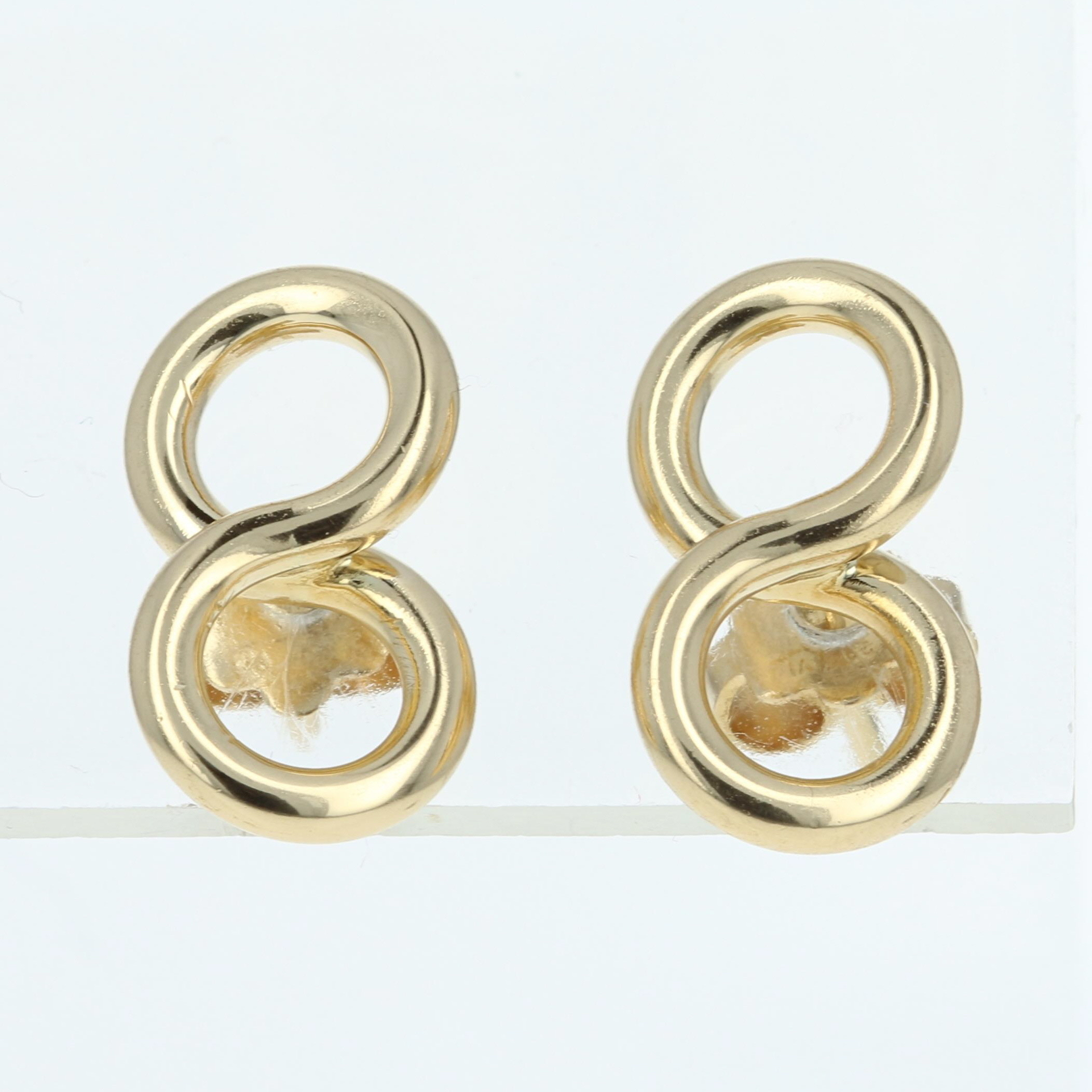 earrings products infinity nei double group gold drop