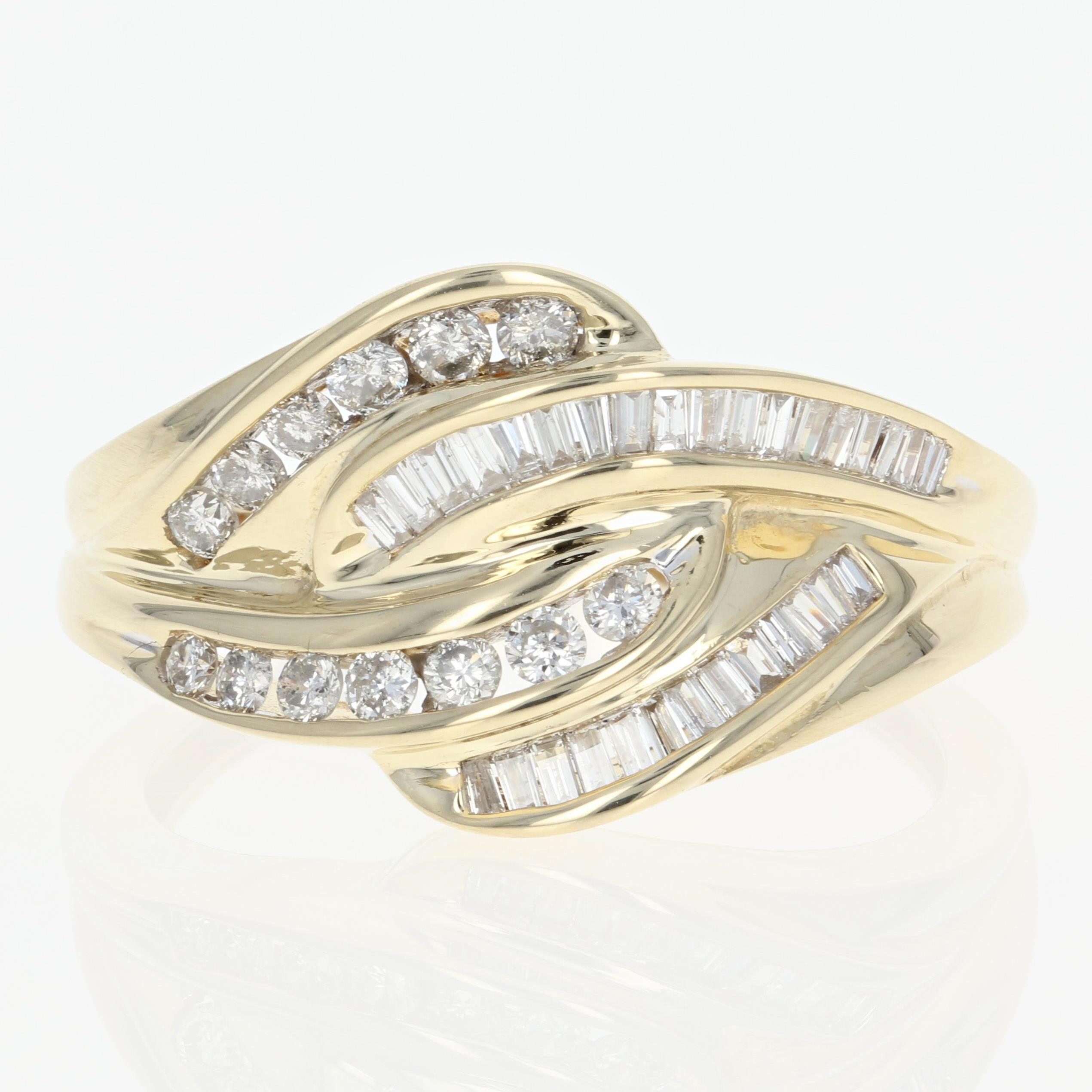 gold brilliant ring thumbnails baguette diamond love to bypass click round owned pre enlarge itm knot