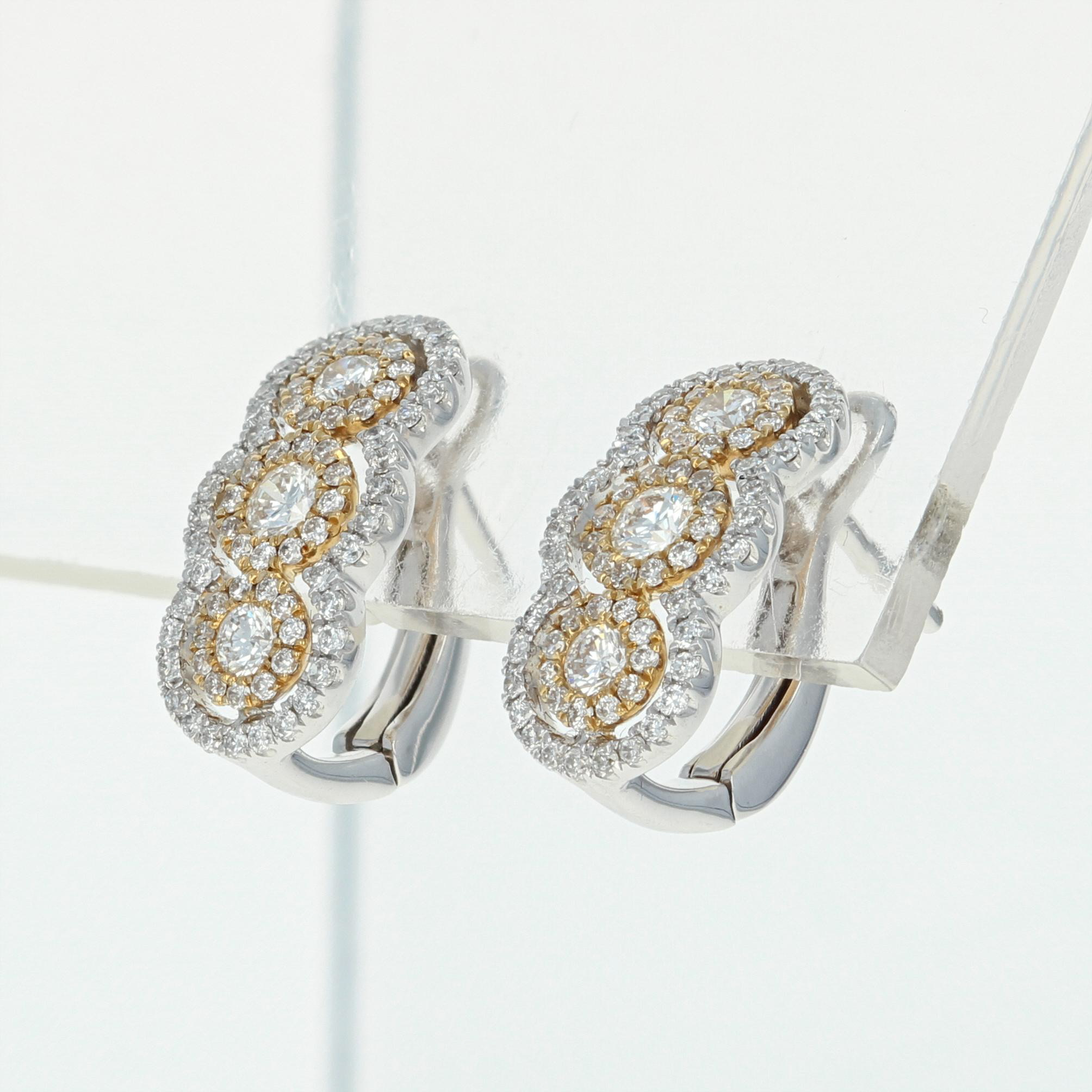 borsheims white emerald diamond earrings round gold halo