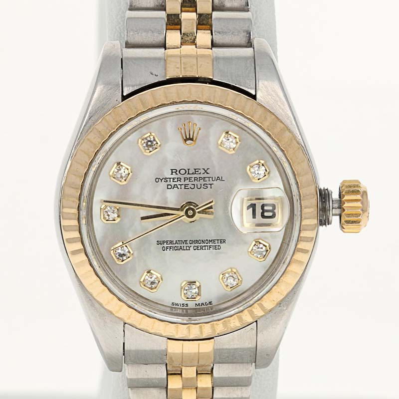 4ea182358f2 Rolex Ladies Watch Factory MOP Diamond Dial 79173 Oyster Datejust ...
