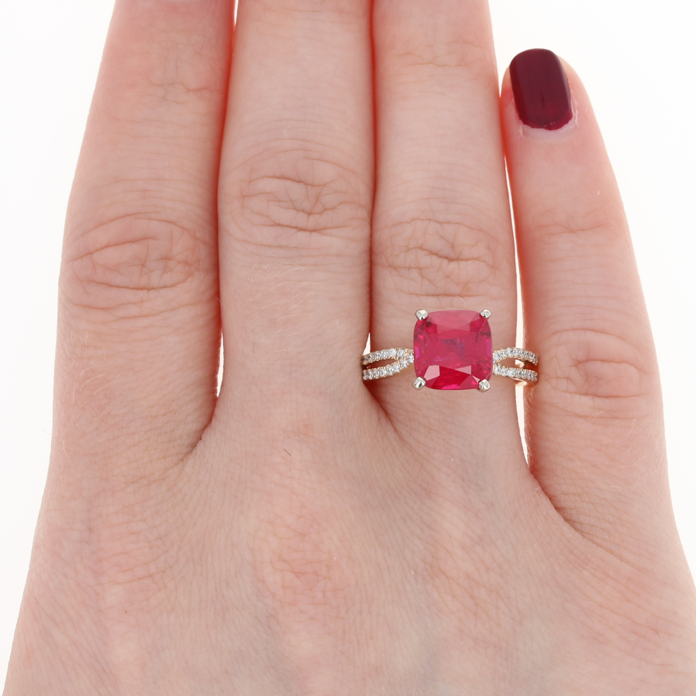 Scott Kay Synthetic Ruby & Diamond Ring - 14k Yellow Gold Engagement ...