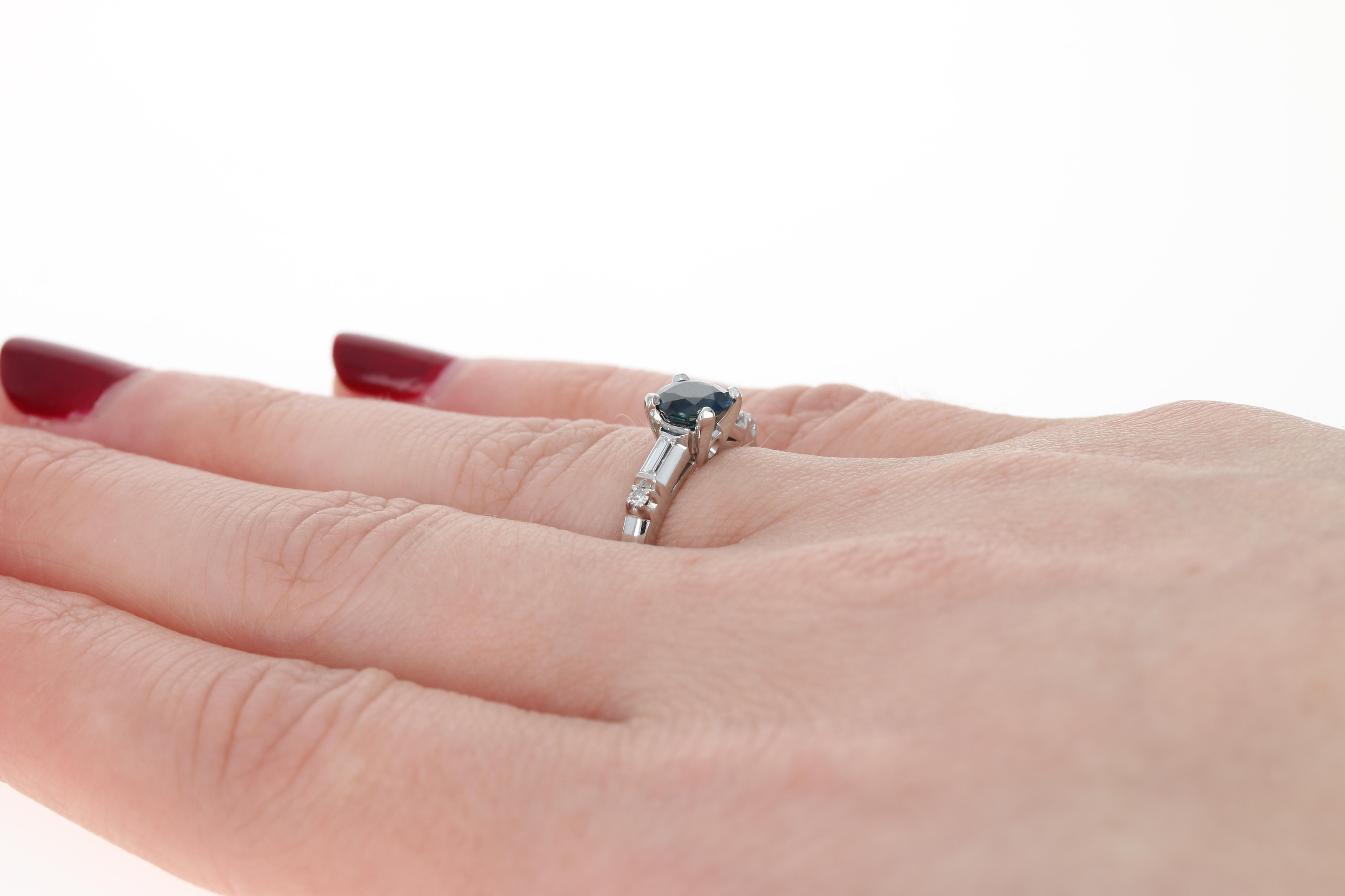 NEW Jabel Sapphire & Diamond Engagement Ring - 900 Platinum Round ...