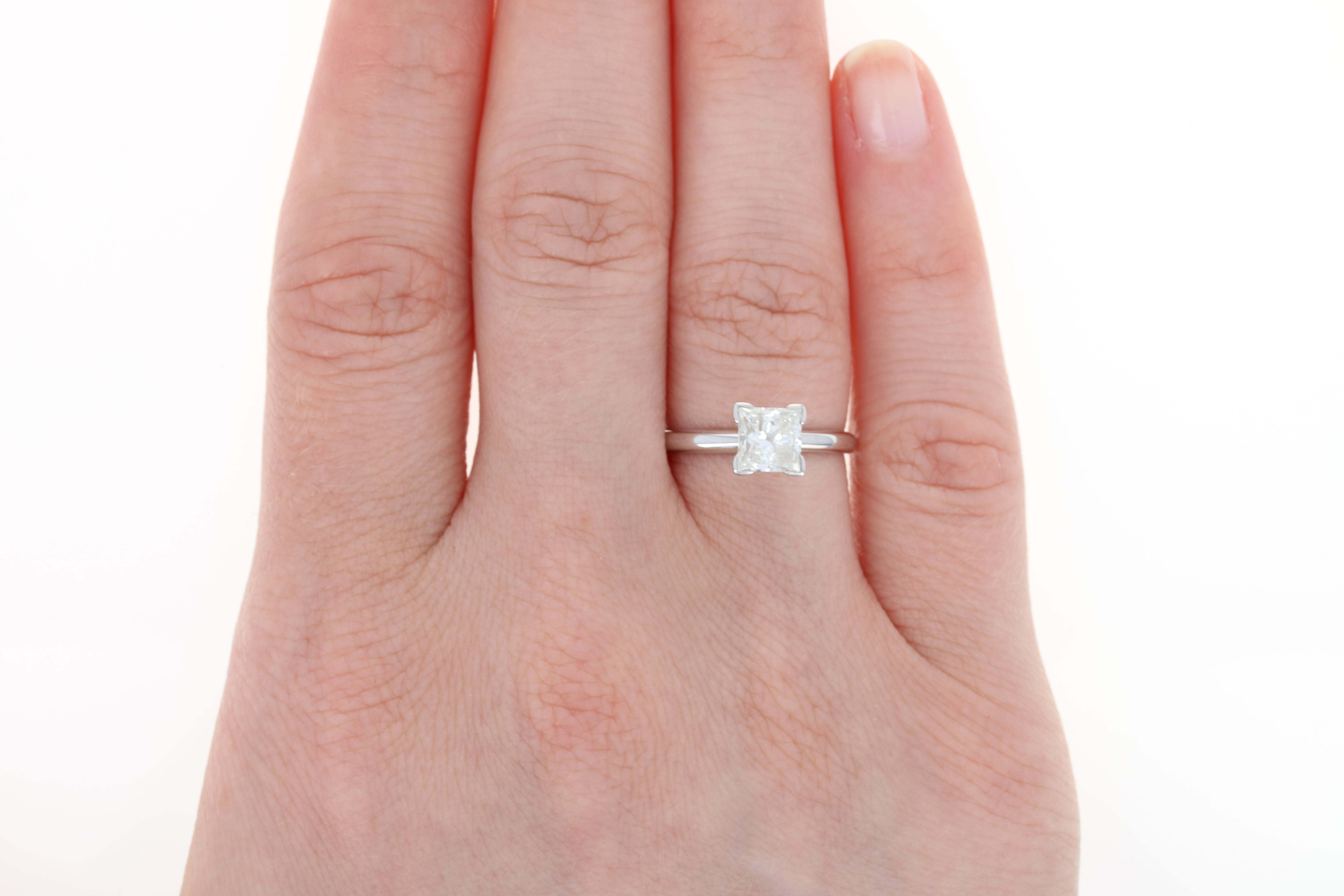 Diamond Engagement Ring & Wedding Band Set - 14k Gold GSL Princess ...