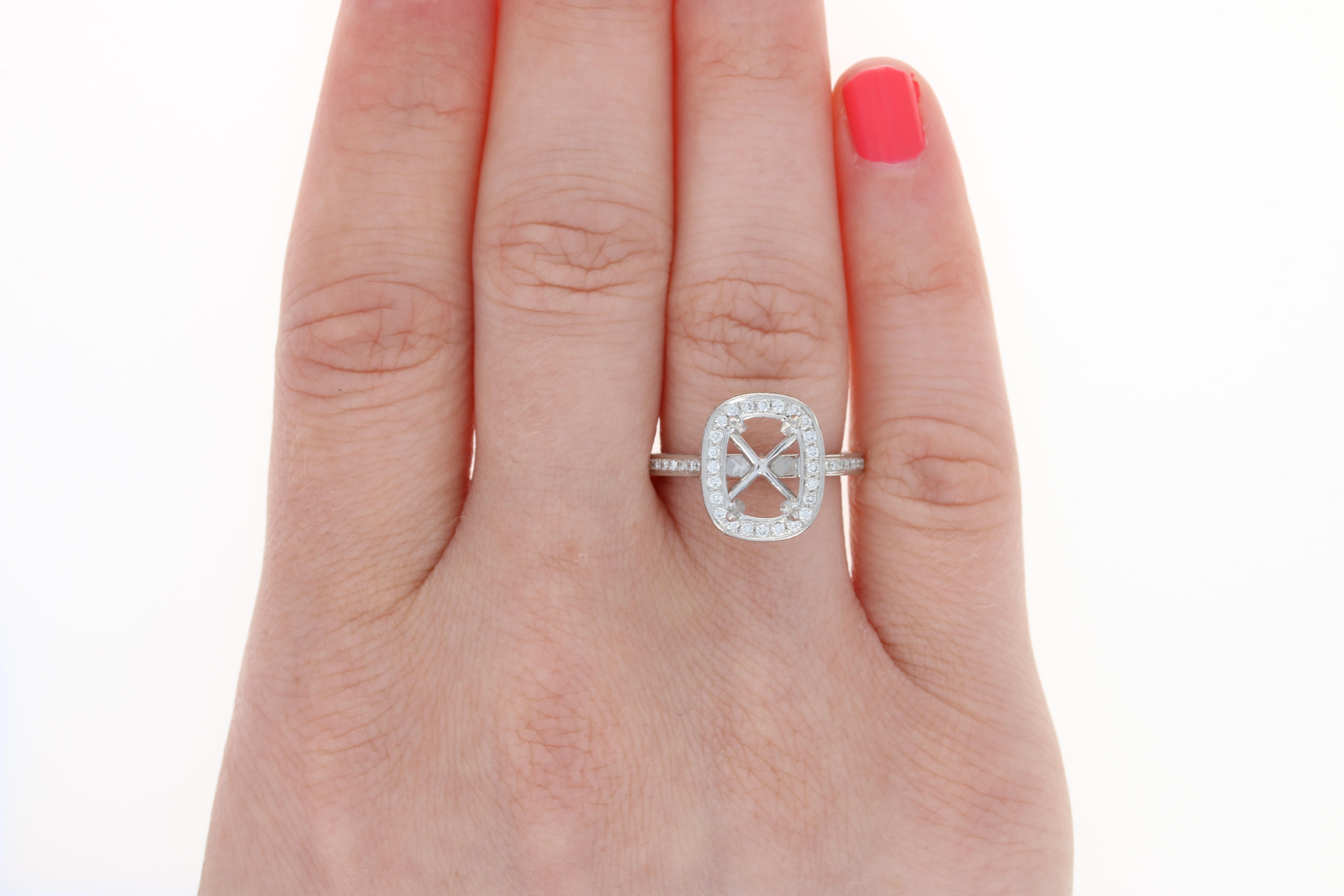 Henri Daussi Semi-Mount Engagement Ring & Wedding Band - Platinum ...