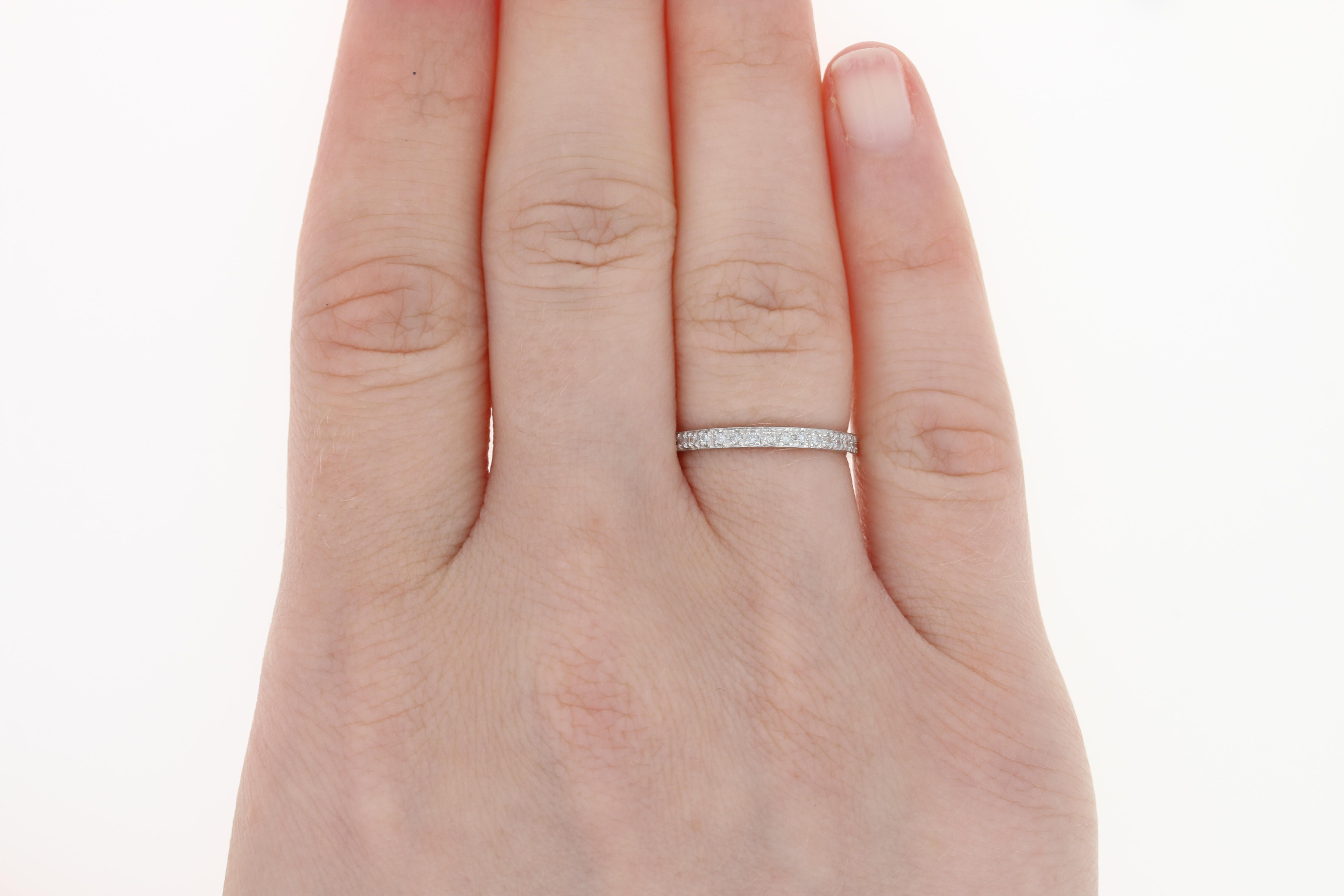 Diamond Eternity Wedding Band - Platinum Size 5 1/2 Anniversary Ring ...