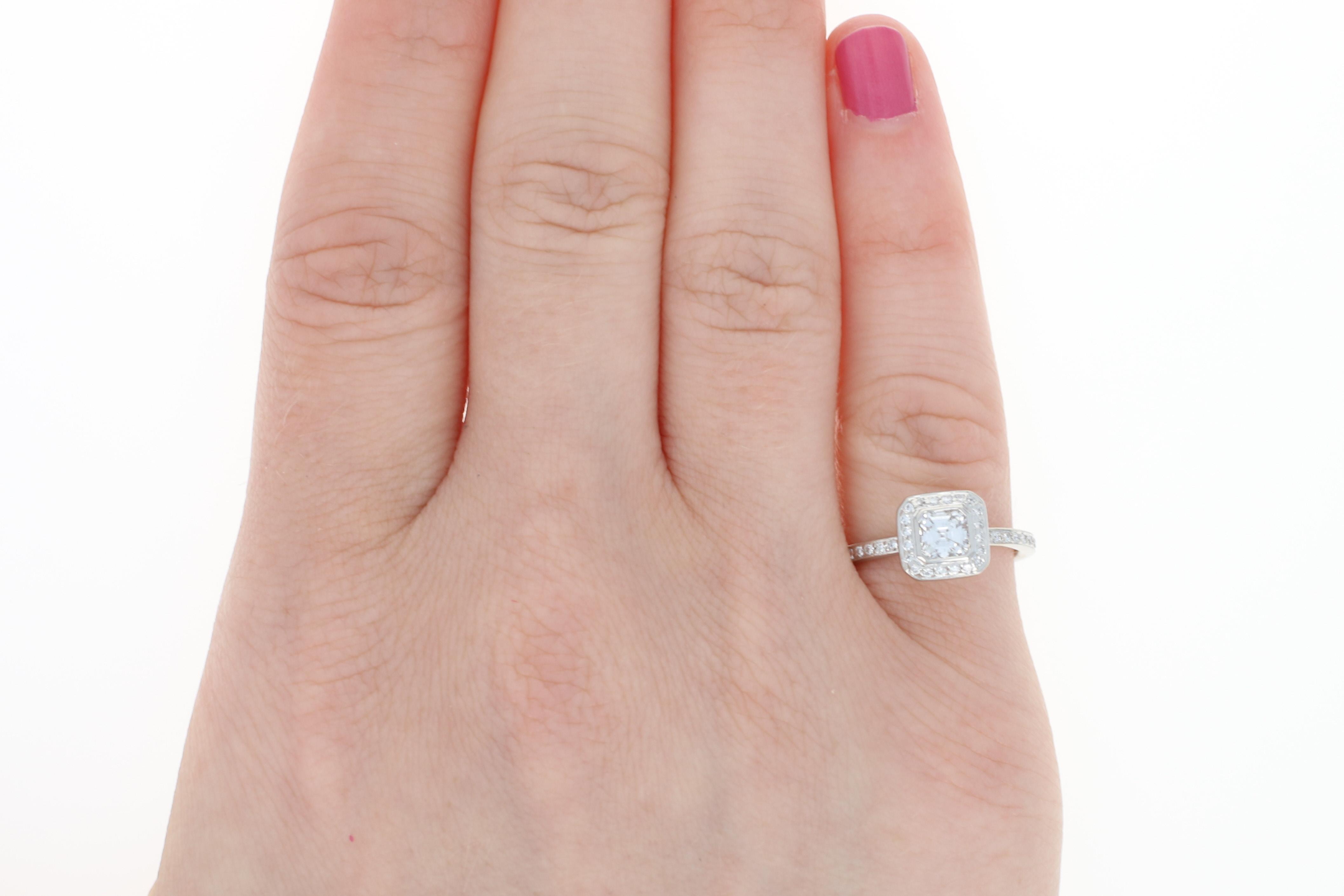 Ritani Diamond Halo Engagement Ring & Wedding Band 950 Platinum ...