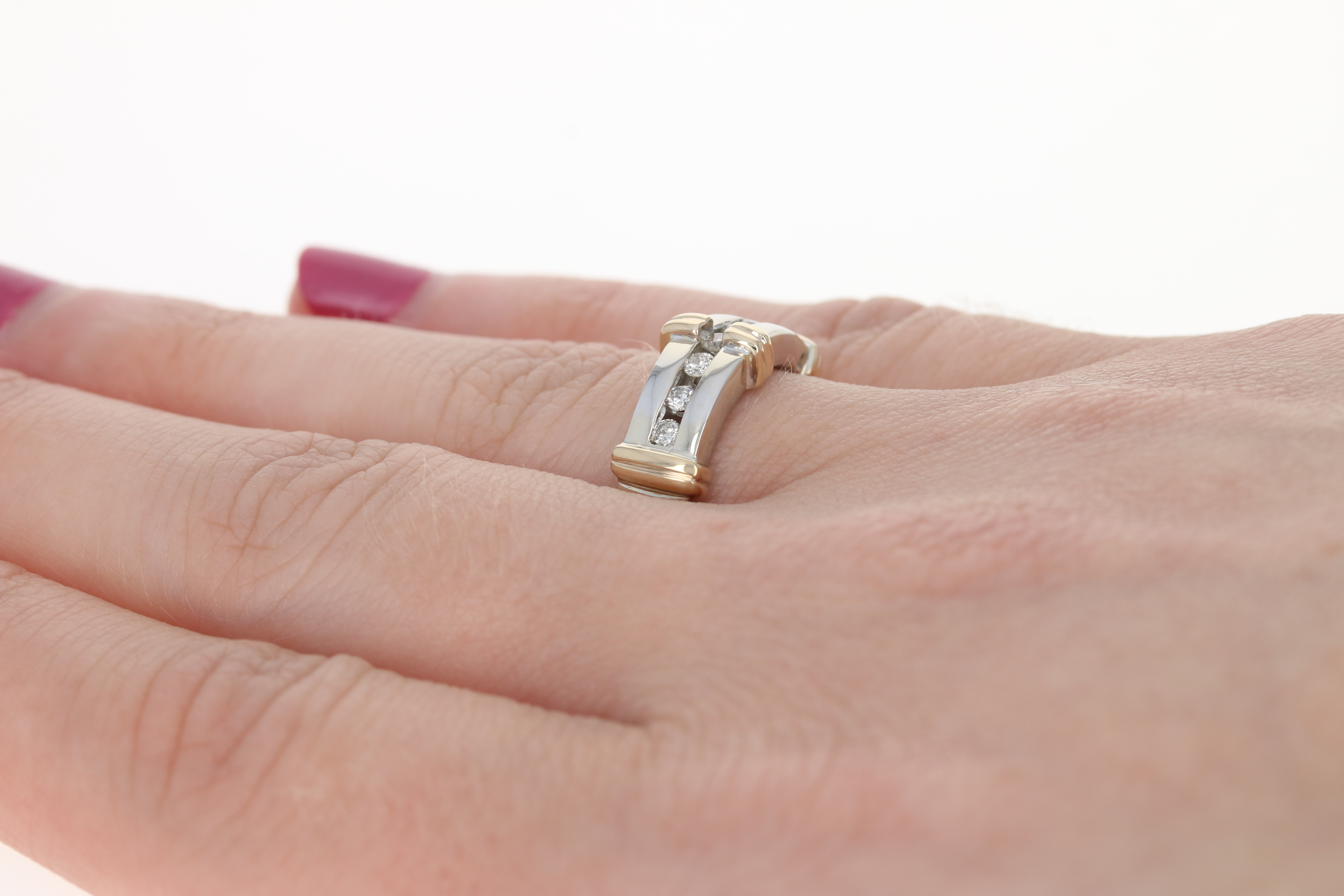 Diamond Ring - 14k White Gold Wedding Band Round Brilliant .20ctw | eBay