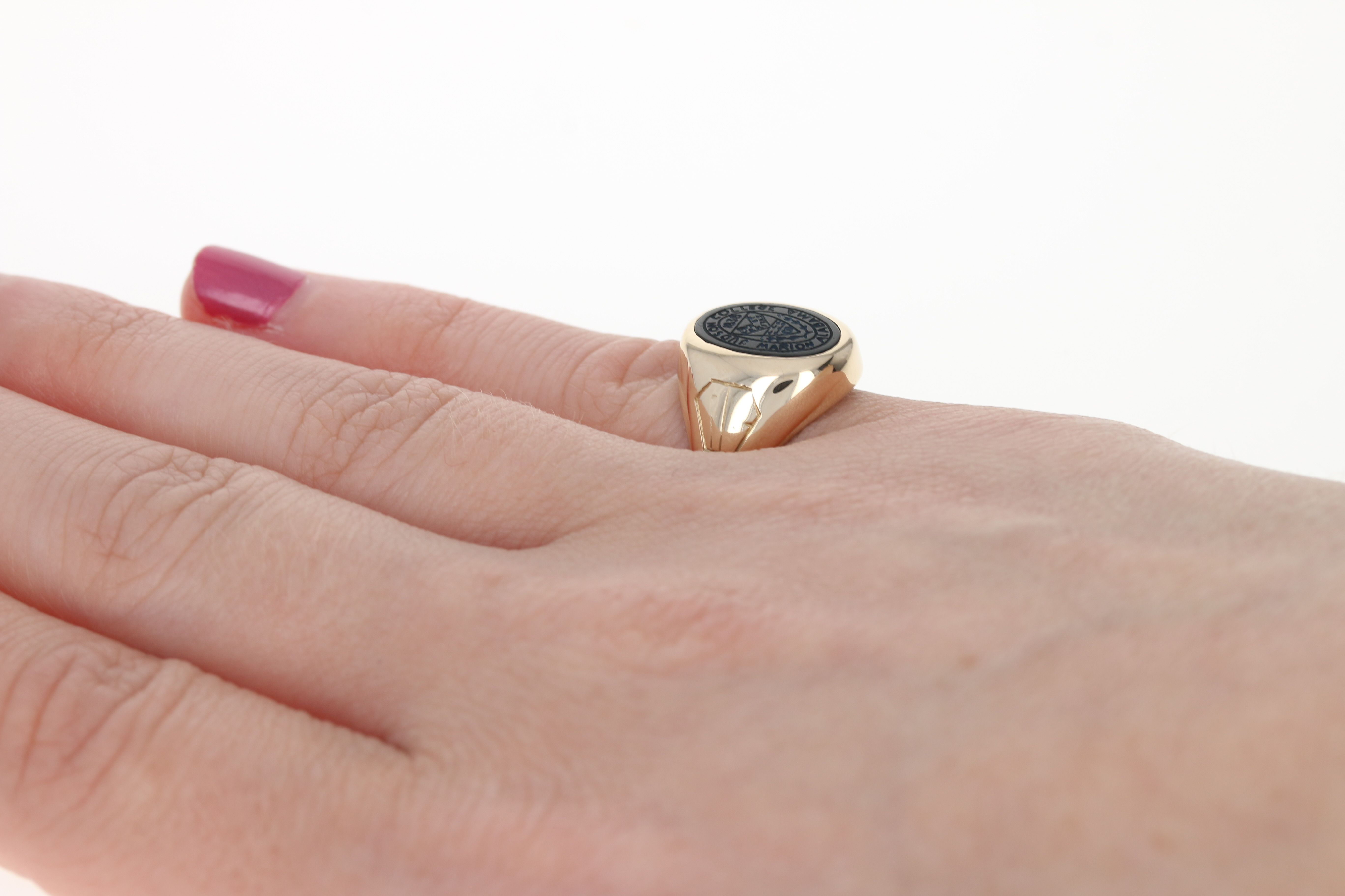Vintage Judson College Class Ring - 10k Yellow Gold Onyx Women\'s ...