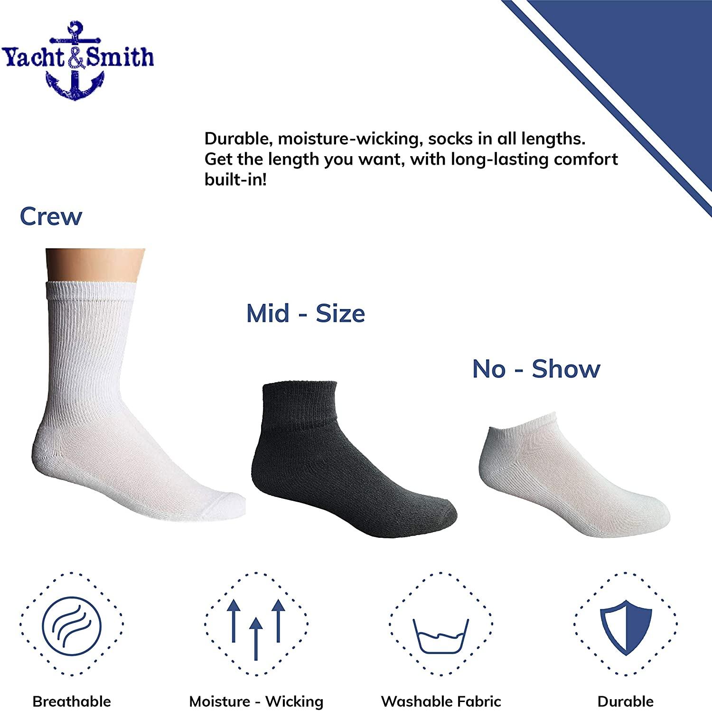 White, 6-8 72 Pk Bulk Thick Cotton Socks Wholesale Kids Crew Cut Ankle Socks