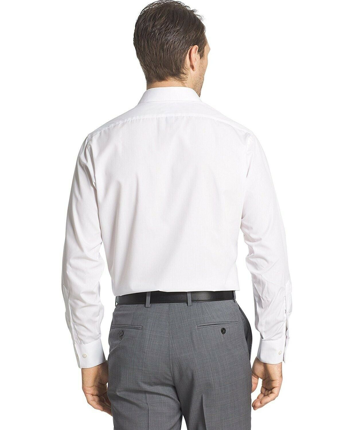 BERLIONI-ITALY-MEN-039-S-PRIME-FRENCH-CONVERTIBLE-CUFF-SOLID-DRESS-SHIRT-WHITE thumbnail 8