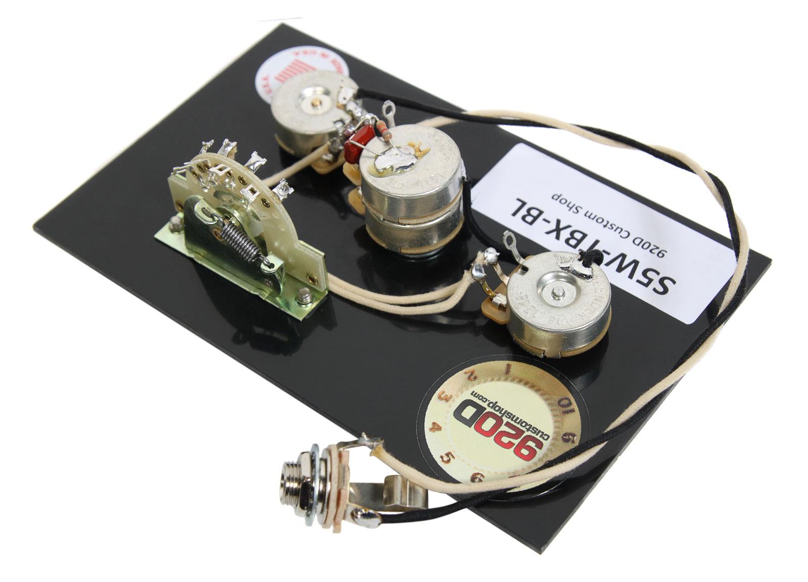 920d custom strat stratocaster wiring harness tbx and blender pot 601629464046 ebay. Black Bedroom Furniture Sets. Home Design Ideas