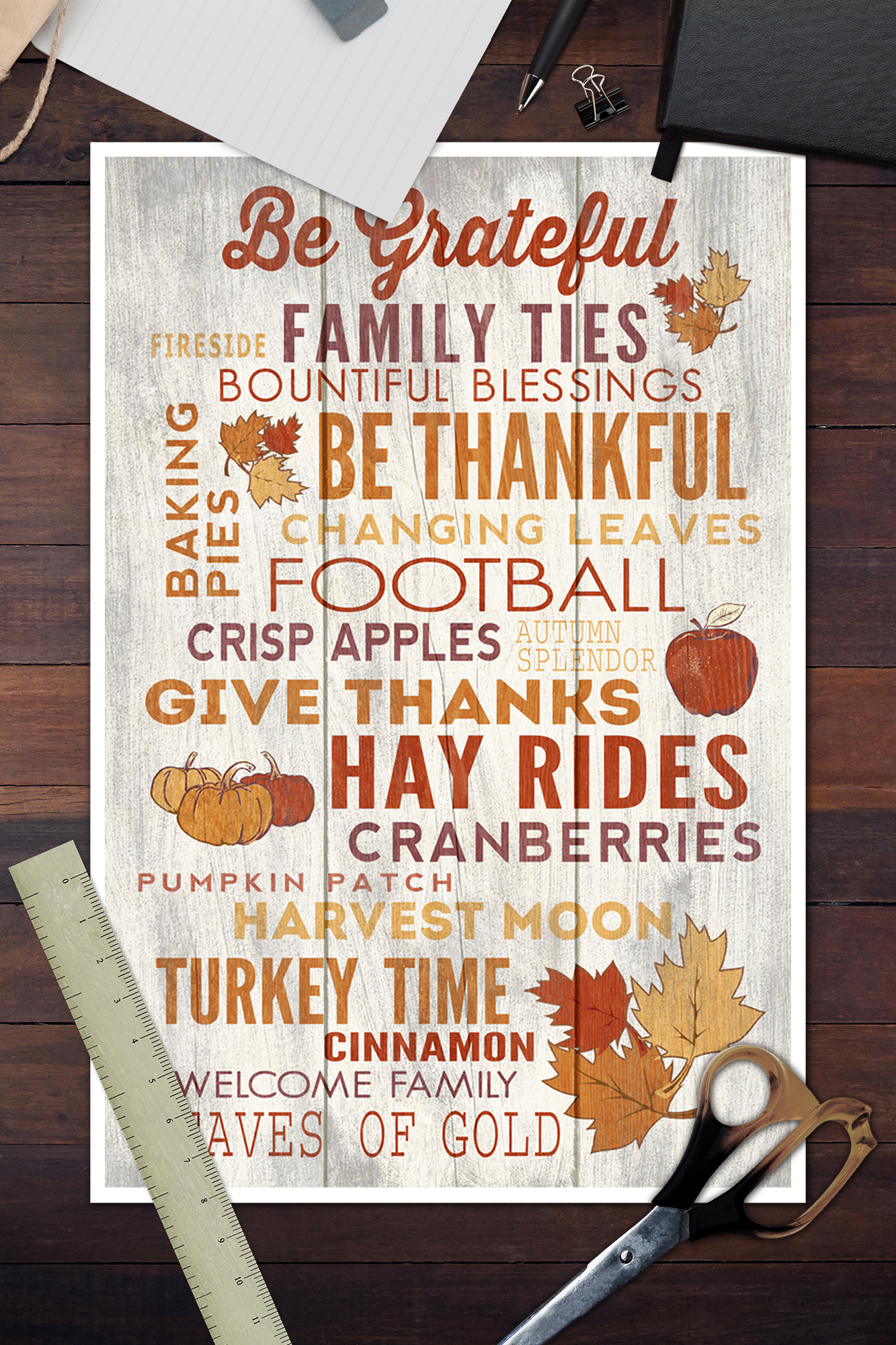 Give thanks Autumn Hayrides Famly Football thanksgiving wooden wall decor sign