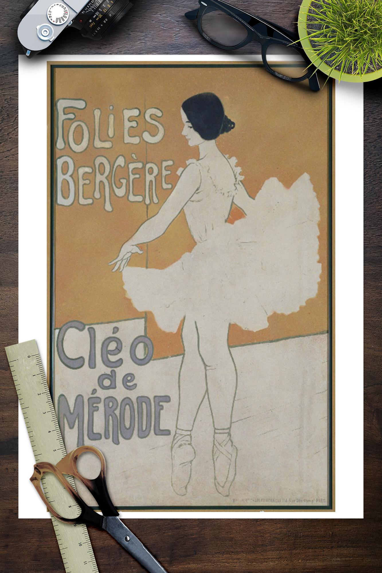 Cleo de Merode by Giovanni Boldini Art Woman Fashion Flapper 8x10 Print 0480