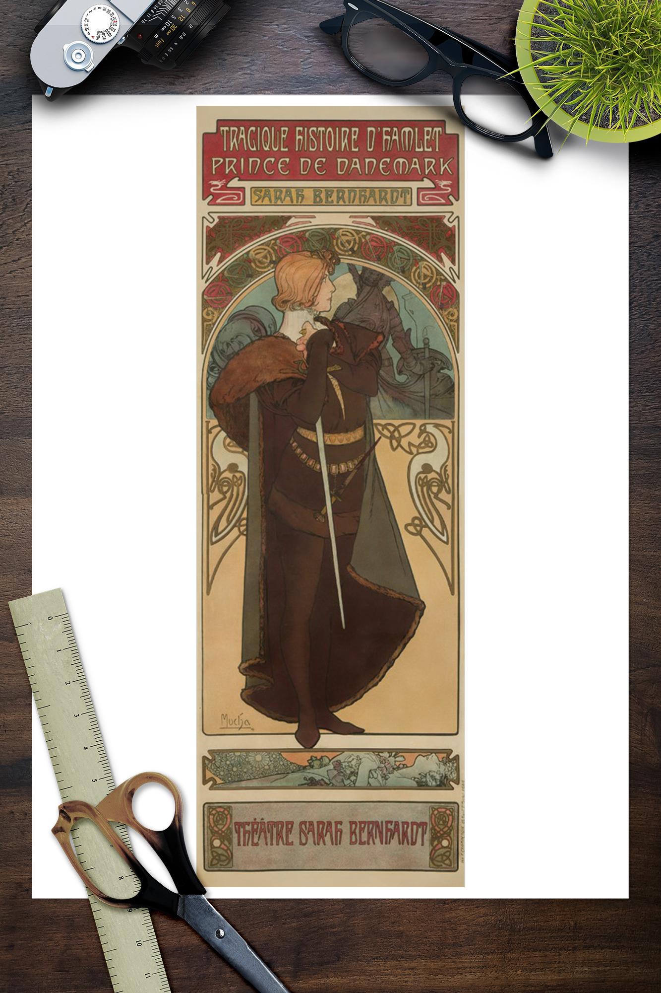 Hamlet Vintage Poster Alphonse Mucha French (Art Prints ...