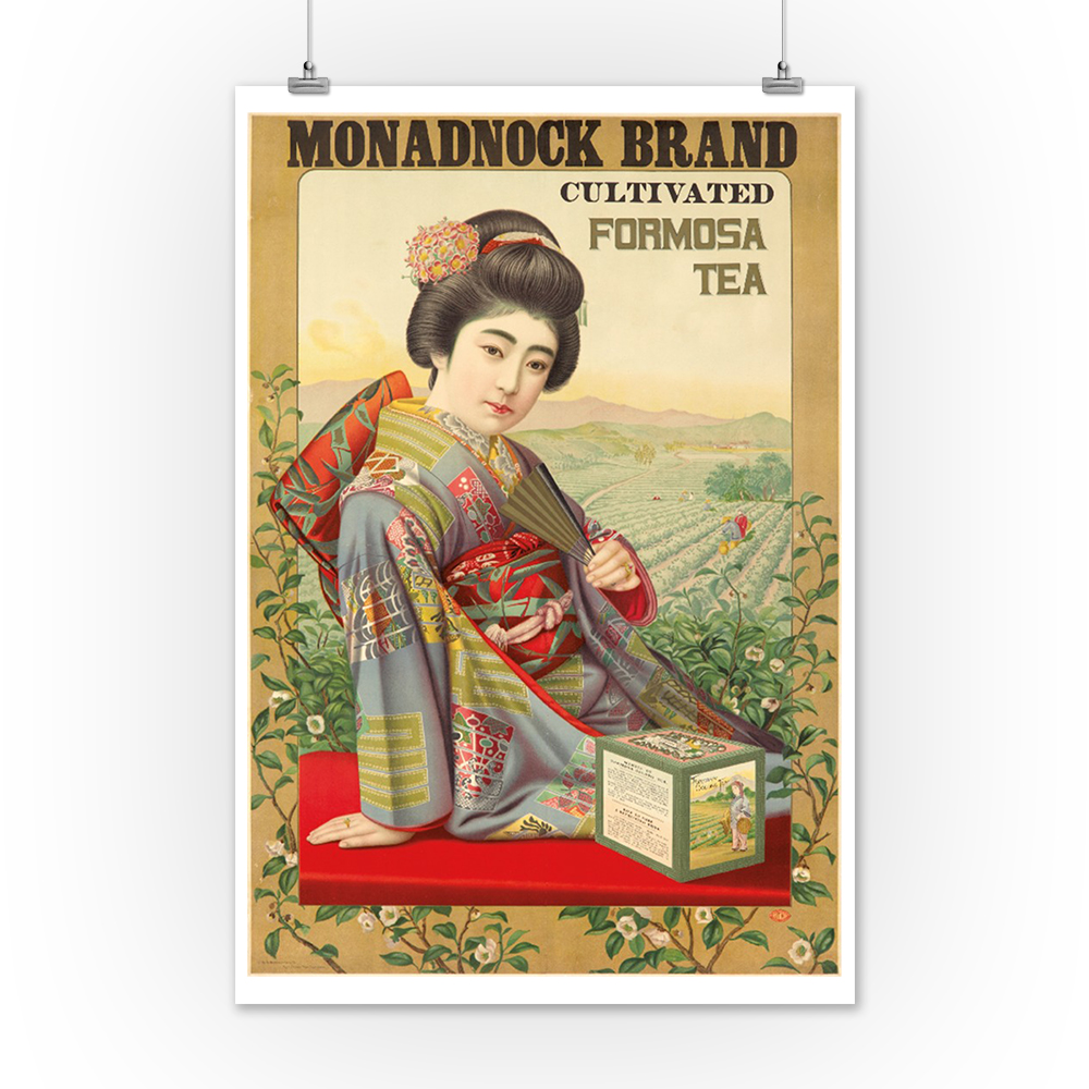 Formosa Tea Vintage Poster Japan c 1915 Art Posters, Wood /& Metal Signs
