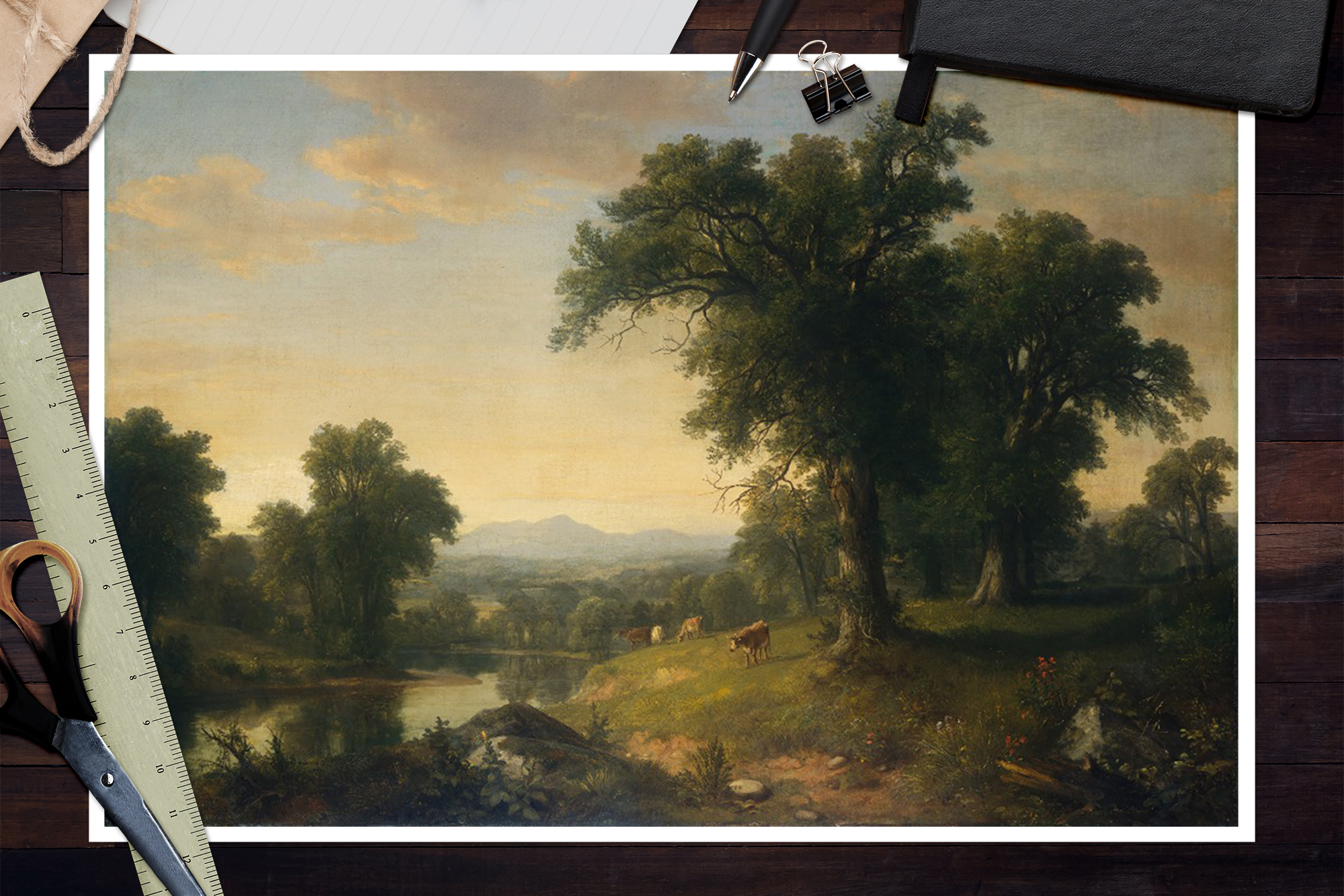 Pastoral Landscape by Asher Brown Durand Giclee Fine ArtPrint Repro on Canvas
