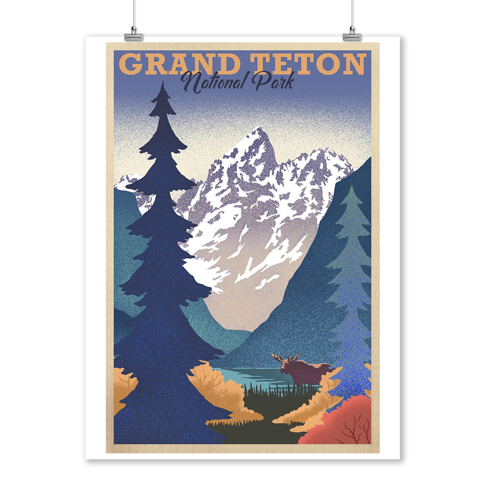Grand Teton National Park Poster: Grand Teton National Park, Wyoming
