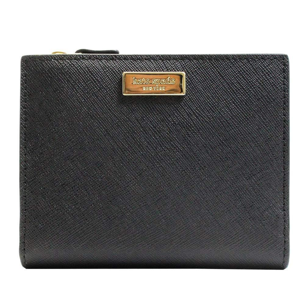 NWT KATE SPADE LEATHER LAUREL WAY SMALL SHAWN CARD CASE WALLET IN BLACK